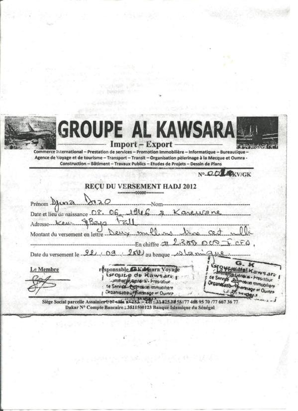 """[Audio-Documents] Moutapha Diamanka: """"Comment une agence de voyage de la place a chipé mes 2,3 millions FCfa"""""""