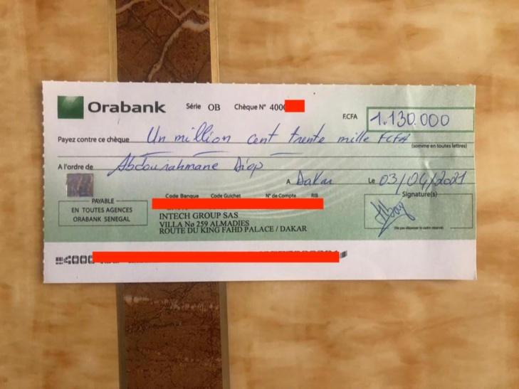 PHOTOS/ Victime d'Avc: Un montant de 1 130 000 FCfa remis à Abibou Diop dit Baye Eli