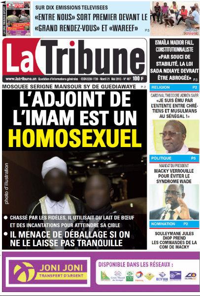 A la Une du Journal La Tribune du mardi 21 mai 2013
