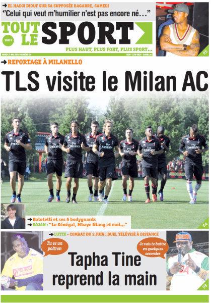 A la Une du Journal Tout Le Sport du mardi 21 mai 2013