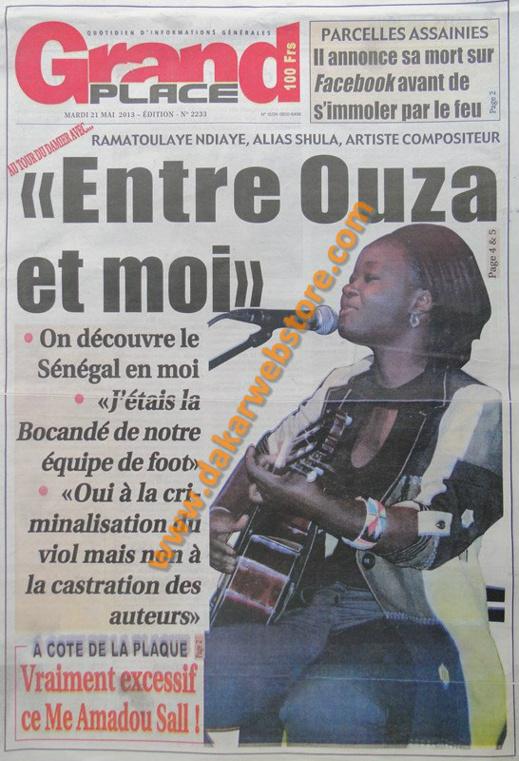 A la Une du Journal Grand Place du mardi 21 mai 2013