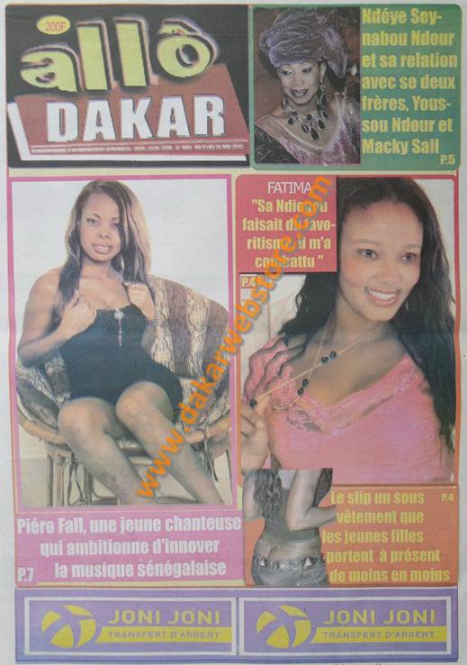 A la Une du Journal Allo Dakar du mardi 21 mai 2013