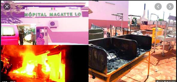 Incendie à l'hôpital Maguette de Linguère: L'absence d'une enquête approfondie et impartiale dénoncée