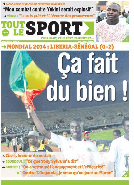A la Une du Journal Tout Le Sport du lundi 17 juin 2013
