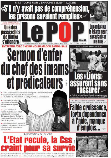 A la Une du Journal Le Populaire du lundi 17 juin 2013