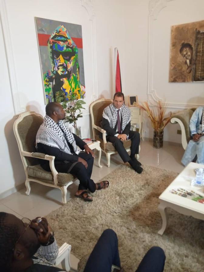 """Guy Marius Sagna à l'ambassadeur de la Palestine: """"Les États africains doivent élèver leurs voix contre cette oppression"""""""