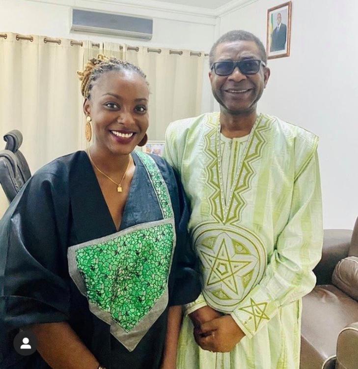 L'actrice Halima Gadji rend hommage à Youssou Ndour