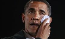 La presse nationale et internationale interdite d'immortaliser les larmes d'Obama