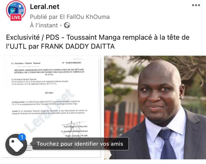 Exclusivité Leral / SG du Mouvement des Elèves et Etudiants libéraux: Atteint par la limite d'âge, Toussaint Manga rend le tablier