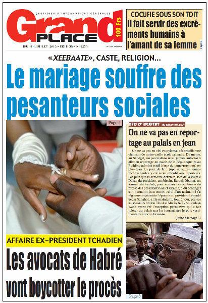 A la Une du Journal Grand Place du jeudi 04 juillet 2013