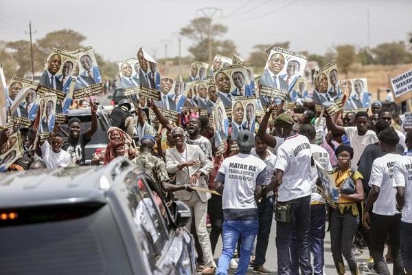 Tournée économique : voici les images de l'arrivée de Macky Sall à Fatick