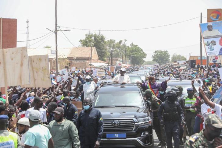 Photos: Accueil de Macky Sall à Malème Hodar, Koungheul et Koumpentoume