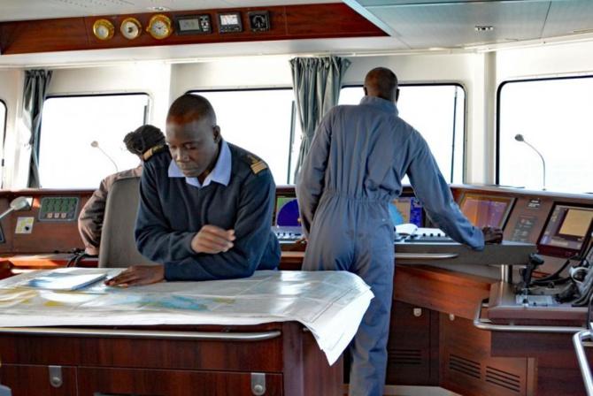 le capitaine  Djibril Diawara  de la marine Sénégalaise