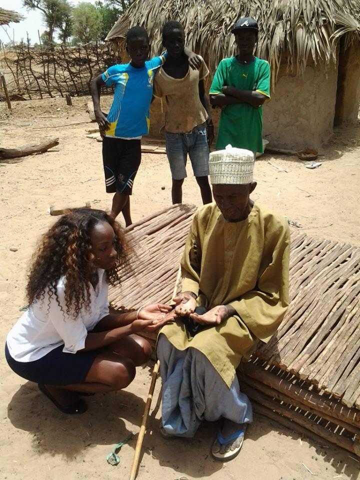 Thésou Ndiaye, Miss Sénégal 2013 dans le social