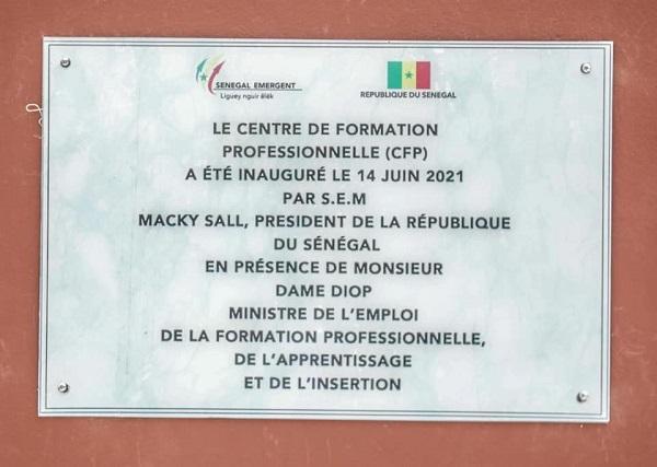 Aéro Lao: Le Président Macky Sall a inauguré le Centre départemental de Formation Technique et Professionnelle