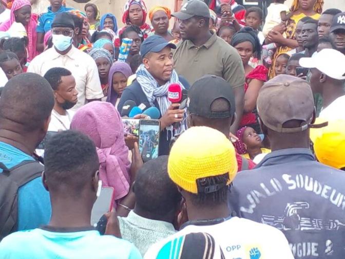 Tournée « Tibbe Tankii Macky »: Bougane Guèye Dany accueilli au Walo