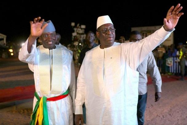Retrouvailles avec son ancien ministre de l'Intérieur: De passage à Linguère, Macky Sall accueilli par Aly Ngouille Ndiaye