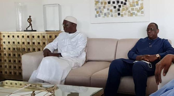 Présentation de Condoléances: Le Président Macky Sall chez Khalifa Sall et...