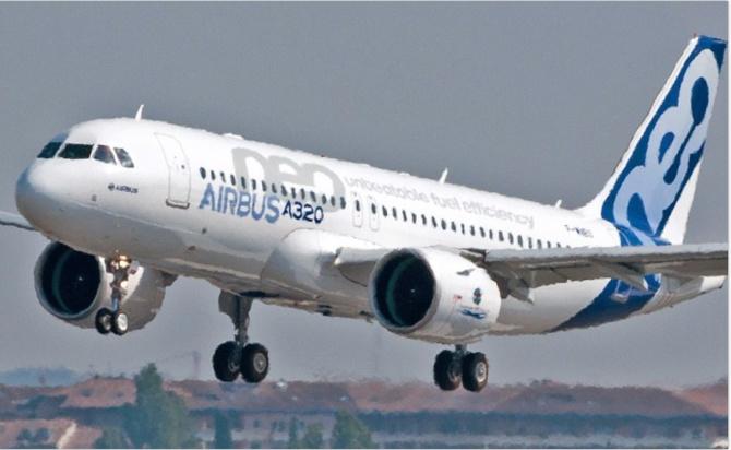 Le nouvel avion présidentiel A-320 NEO a fait son premier vol d'essai