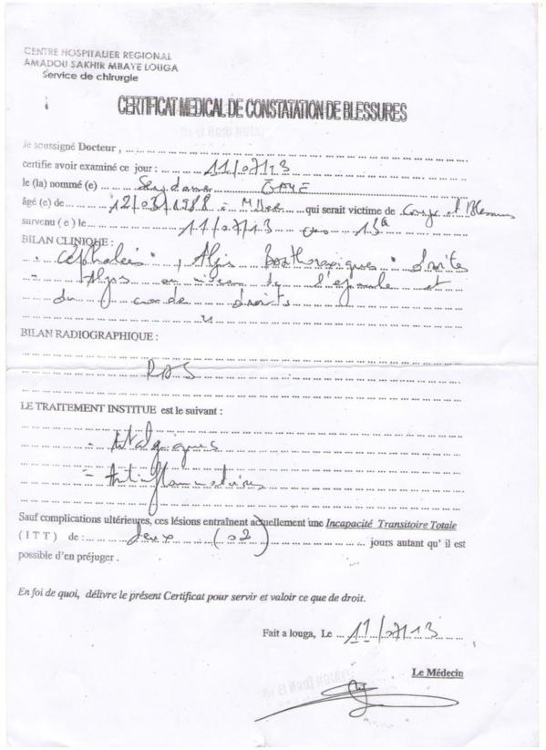 [Documents+Vidéo] Des Lougatois très remontés contre l'huissier Me Sakine: Une plainte déposée auprès du Procureur