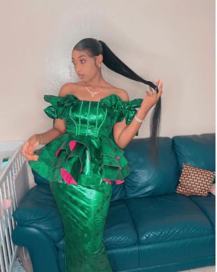 Tabaski: Tatira Sow enflamme le net avec ses jolies taille-basse (Photos)