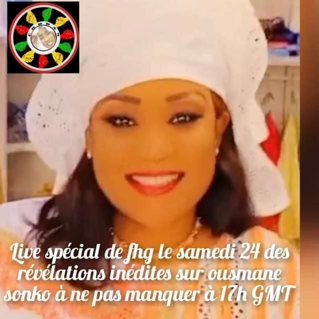 Live sur Facebook à 17h ce samedi: Françoise Héléne Gaye, les révélations inédites sur Ousmane Sonko