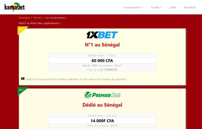 Le meilleur bookmaker accessible au Sénégal