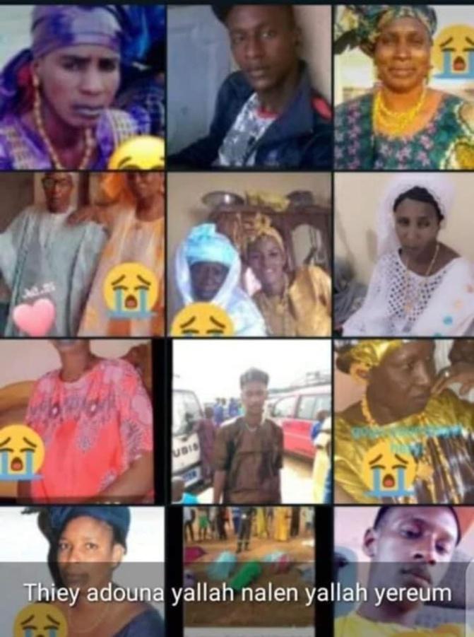Hécatombe à Agnam: Le bilan macabre de l'accident passe à 14 morts, une famille 10 de ses...