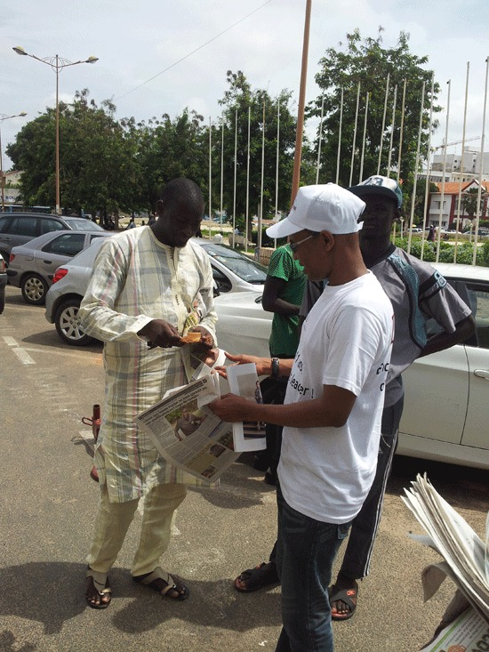 Le Dg de GFM Mamadou Ibra Kane et son adjoint Birane Ndour en action