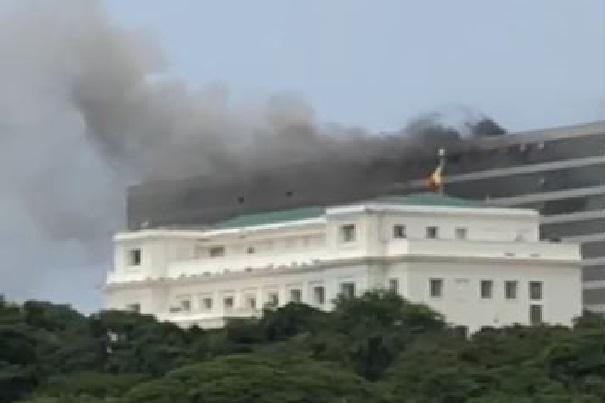 Incendie au Building administratif: Les précisions du Service de gestion