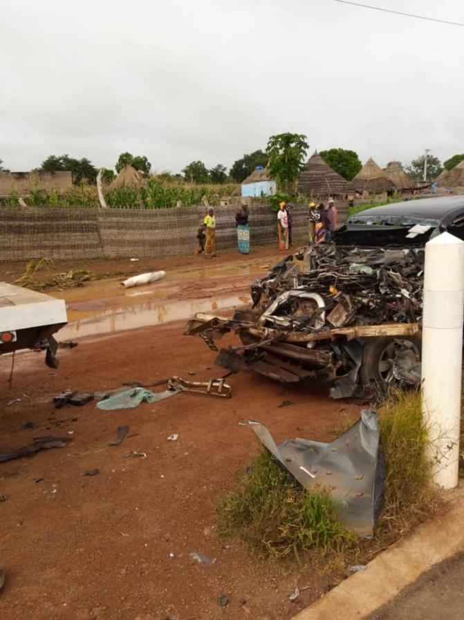"""Tamba: Collision avec un """"malien"""": Moustapha Guirassy s'en sort avec des égratignures, son chauffeur au bloc"""