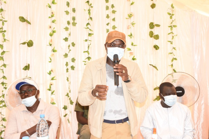 Kounoune: Oumar Guèye chaleureusement accueilli par les populations de la cité Hawa Dia
