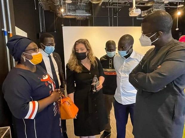 Expo Universelle de Dubaï 2020 : Mme Diatta , le Ministre du Commerce et des PME en visite préparatoire au pavillon Sénégal.