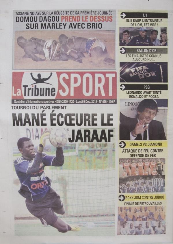 A la Une du Journal La Tribune du lundi 09 Décembre 2013