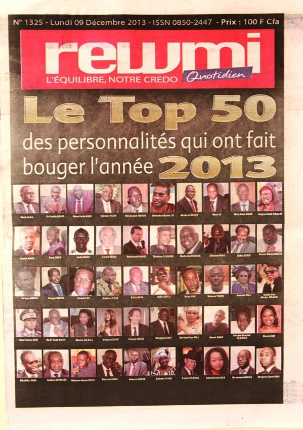 A la Une du Journal Rewmi du lundi 09 Décembre 2013