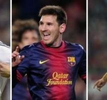 C'est officiel: Voici les trois finalistes du Ballon d'Or 2013, choisi par…