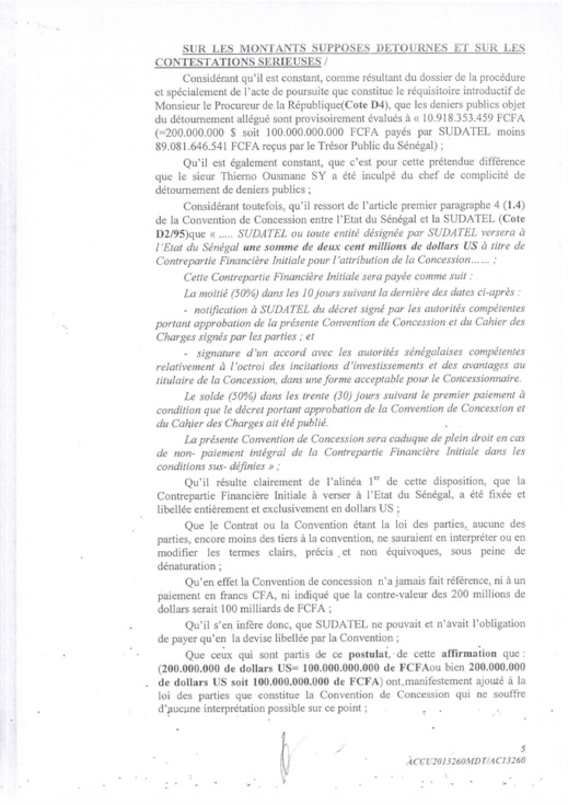 """[Documents exclusifs] Affaire Sudatel: La Chambre d'accusation ordonne la mise en liberté """"immédiate"""" de Thierno Ousmane Sy"""
