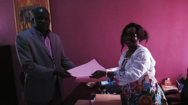 Abdoulaye Diagne de Walo Consulting avec le secrétaire général de l'IAM
