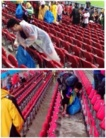 Les supporters du Japon montrent l'exemple