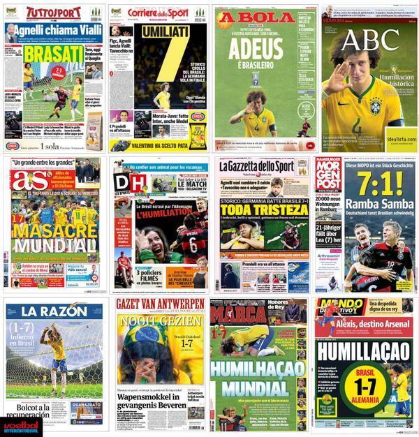 Allemagne-Brésil : La presse allemande n'en revient pas