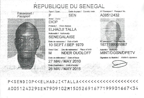 Documents - El Hadji Talla Diop, un escroc ?
