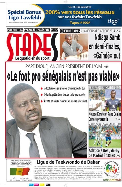 Pape Diouf, ancien président de l'OM: «Le foot pro sénégalais n'est pas viable»