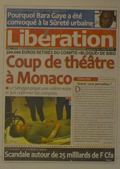 A la Une du Journal Libération du jeudi 02 octobre 2014