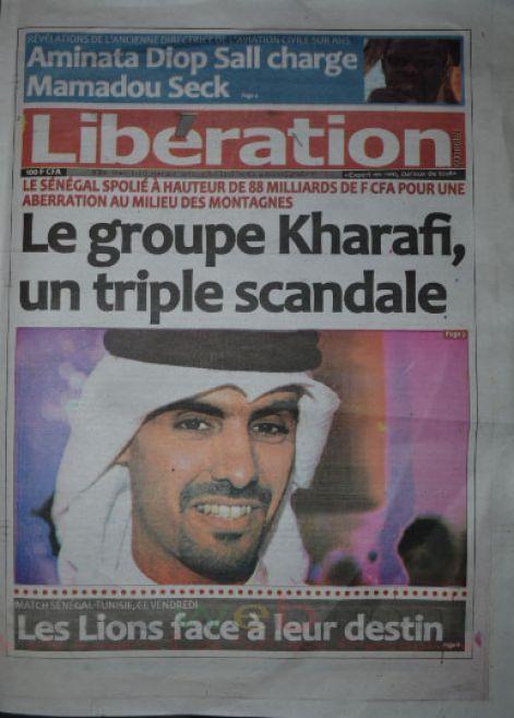 A la Une du Journal Libération du vendredi 10 octobre 2014