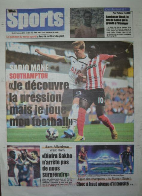 A la Une du Journal Waa Sports du mardi 21 octobre 2014