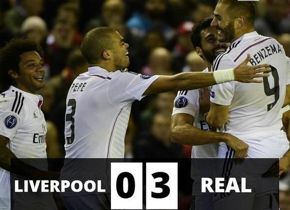 Large victoire du Real Madrid 3 à 0 grâce à un doublé de Benzema et un but de CR7 !