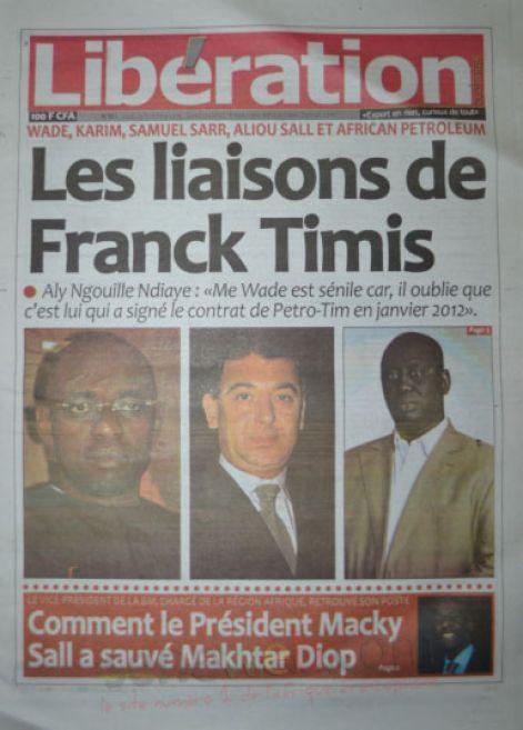 A la Une du Journal Libération du jeudi 23 octobre 2014