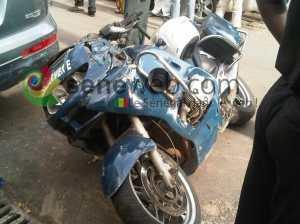 Tournée de Macky : Un motard de la gendarmerie fait un choc