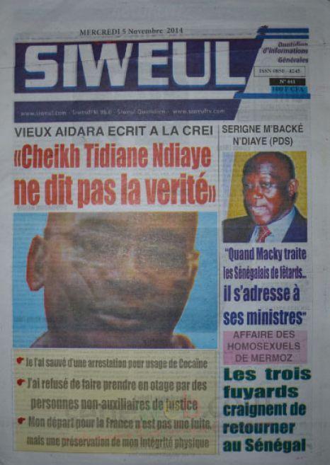 A la Une du Journal Siweul du mercredi 05 nombre 2014