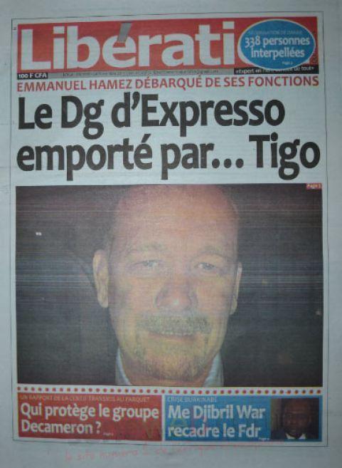 A la Une du Journal Libération du mercredi 05 novembre 2014